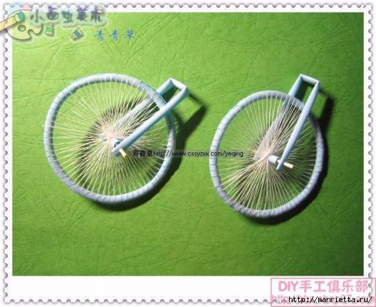 Велосипед из трубочек для коктейлей (21) (540x440, 134Kb)