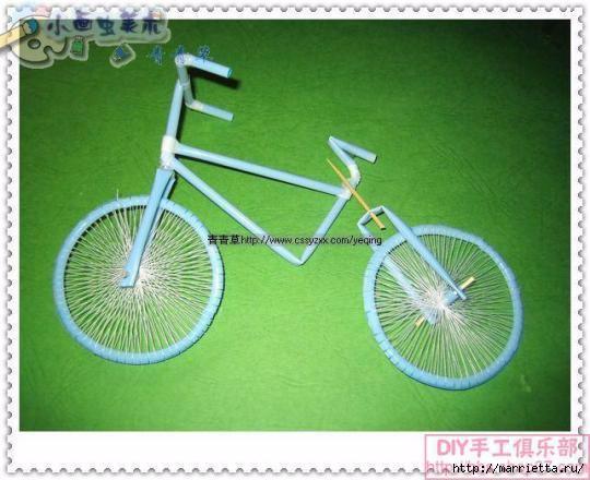 Велосипед из трубочек для коктейлей (31) (540x440, 129Kb)