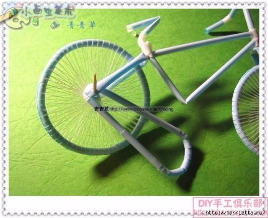 Велосипед из трубочек для коктейлей (35) (540x440, 137Kb)