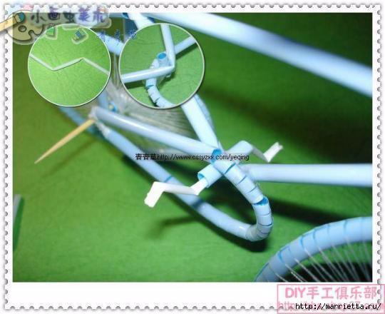 Велосипед из трубочек для коктейлей (37) (540x440, 118Kb)