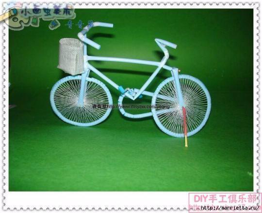 Велосипед из трубочек для коктейлей (43) (540x440, 120Kb)