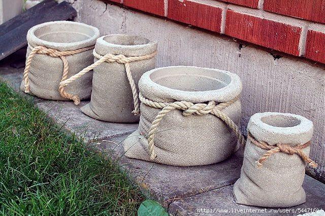 Как сделать вазу для сада из цемента своими руками