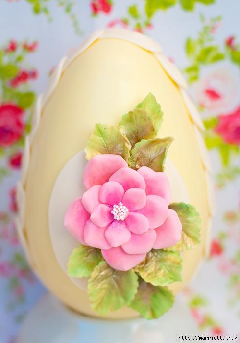 Сахарные розы для украшения шоколадных пасхальных яиц (17) (490x700, 199Kb)