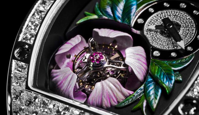 швейцарские часы Richard Mille RM 19-02 Tourbillon Fleur 5 (700x404, 482Kb)