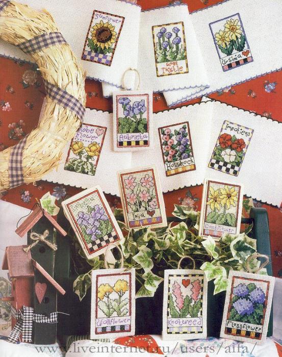 схемы Цветы садовые-мини