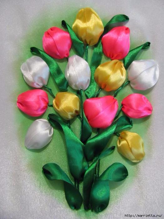 Вышивка тюльпанов атласными лентами (2) (524x700, 264Kb)