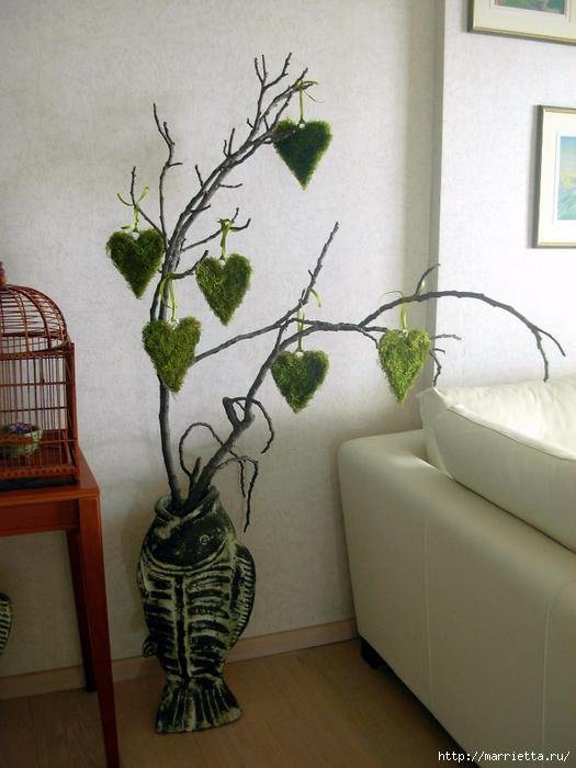 Сердечки из мха для декоративных пасхальных композиций (4) (525x700, 272Kb)