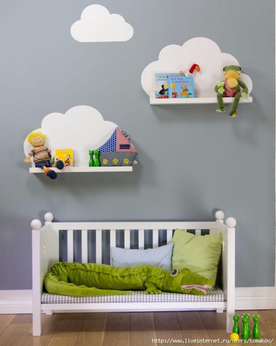 Полки на стену для детской комнаты своими руками