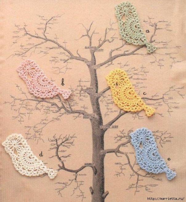 Декоративные птички - подвески крючком (28) (604x654, 282Kb)