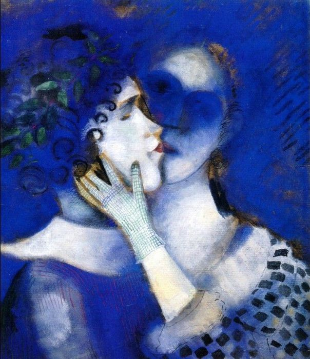 Marc Chagall - Blue Lovers (1914) (604x700, 83Kb)