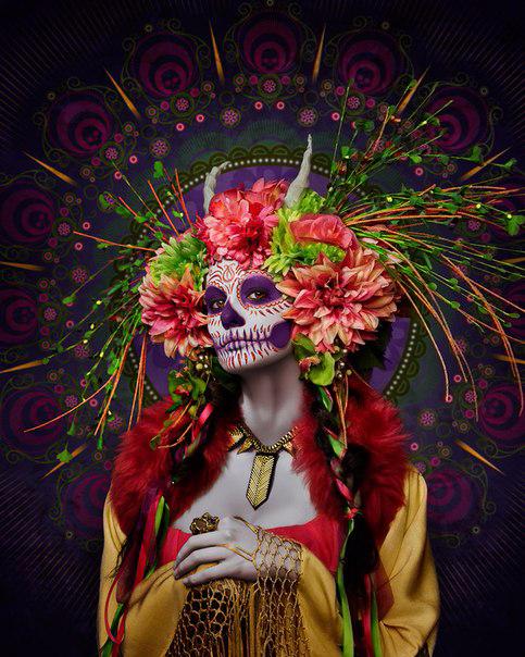 мексиканский праздник Las Muertas 2 (483x604, 423Kb)