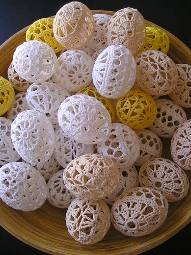 Пасхальные яйца в технике