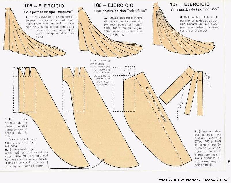 Сшить платье со шлейфом
