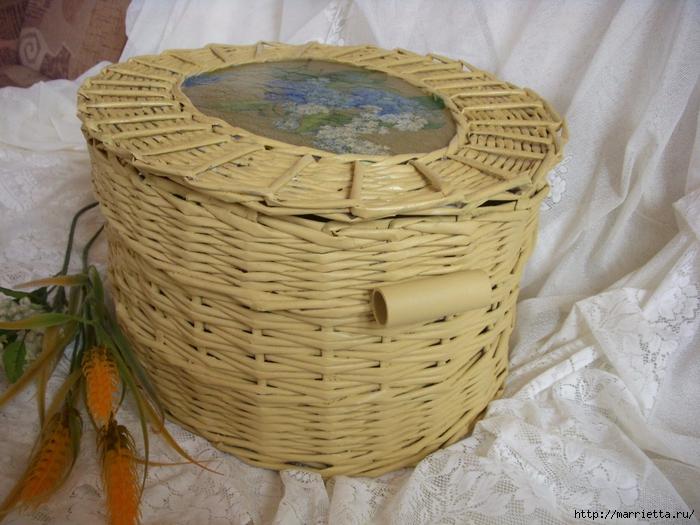 плетение корзинок из газетных трубочек (10) (700x525, 301Kb)