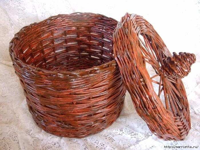 плетение корзинок из газетных трубочек (15) (700x525, 354Kb)