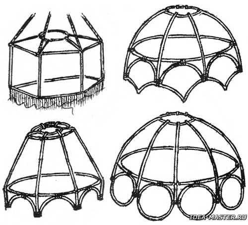 Как изготовить каркас для абажура своими руками