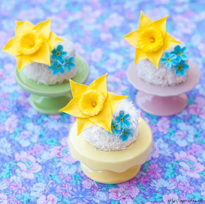 Сладкие НАРЦИССЫ из сахарной мастики (13) (700x699, 348Kb)