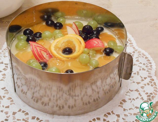 Как сделать торт с фруктами в желе