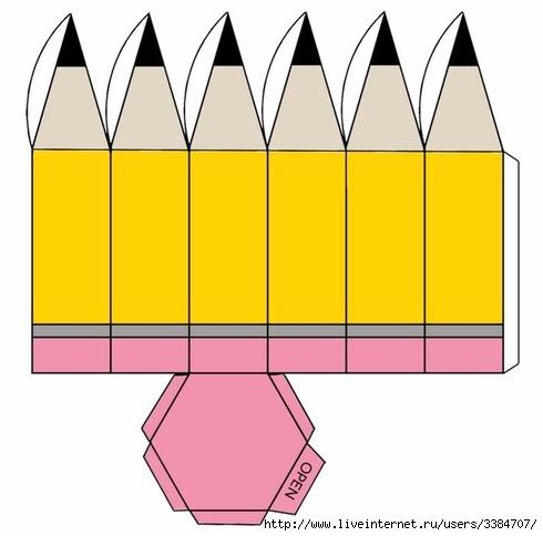 Как сделать из бумаги объемный карандаш из бумаги