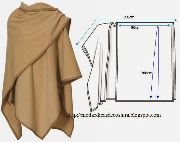 Как сшить пончо из ткани