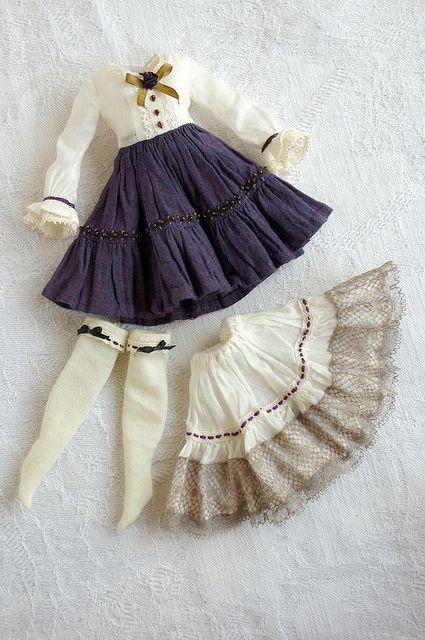 Пышная юбка для куклы