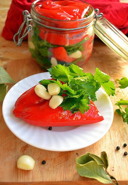 Болгарский перец под гнетом рецепт с фото