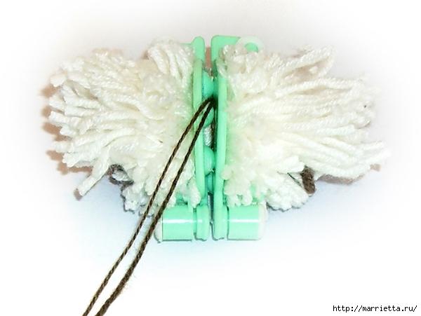 ЕЖИК из помпона. Фото мастер-класс (12) (600x451, 132Kb)