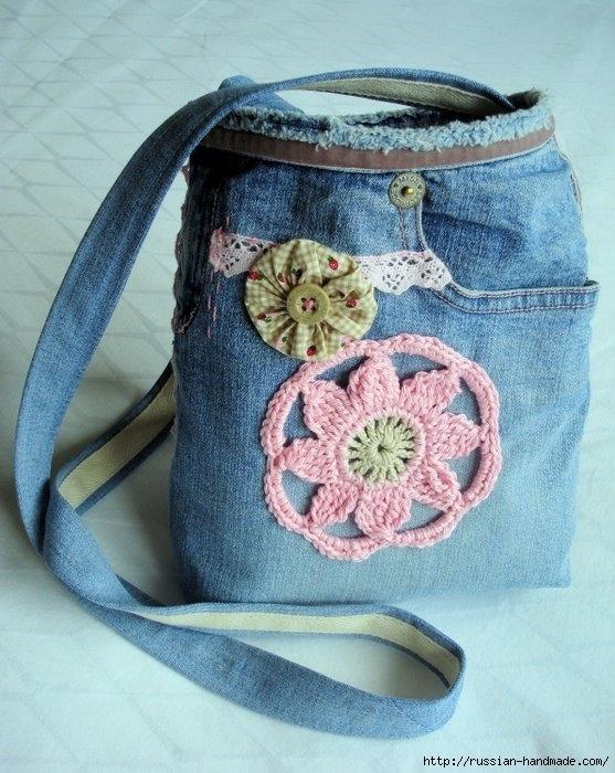 Модные сумки из старых джинсов (9) (557x700, 247Kb)
