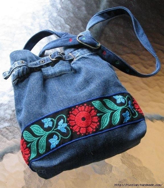 Идеи из старых джинсов своими руками сумки 16