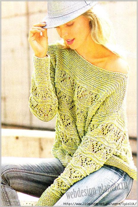 dvuhtsvetnyj-azhurnyj-pulover-spitsami-foto (466x700, 325Kb)