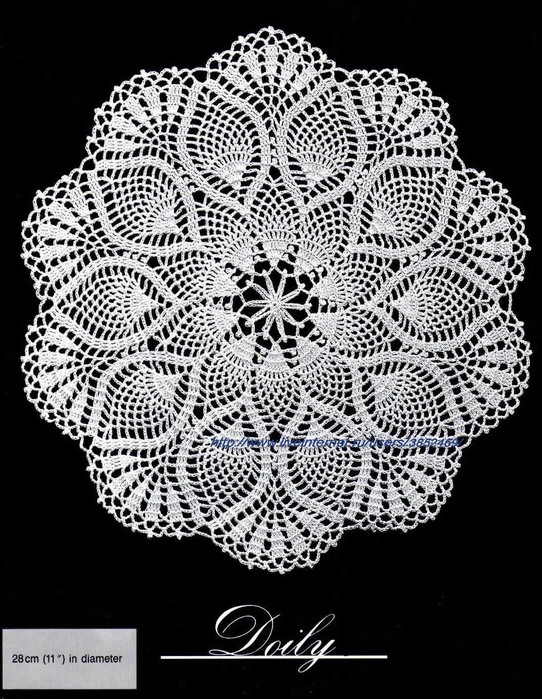 Круглая салфетка Диаметр 28 см