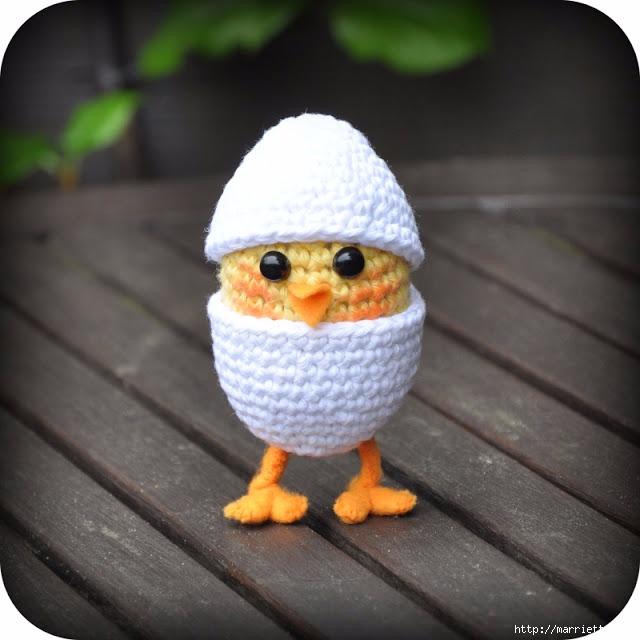 Вязание игрушки амигуруми. Желтый цыпленок в яйце (1) (640x640, 177Kb)