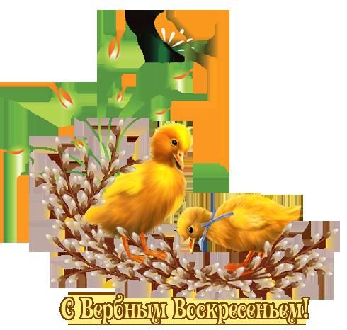 Открытки, картинки на Вербное воскресенье 2018, gif анимации