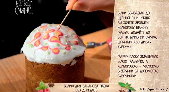 Украшение кулича рецепт