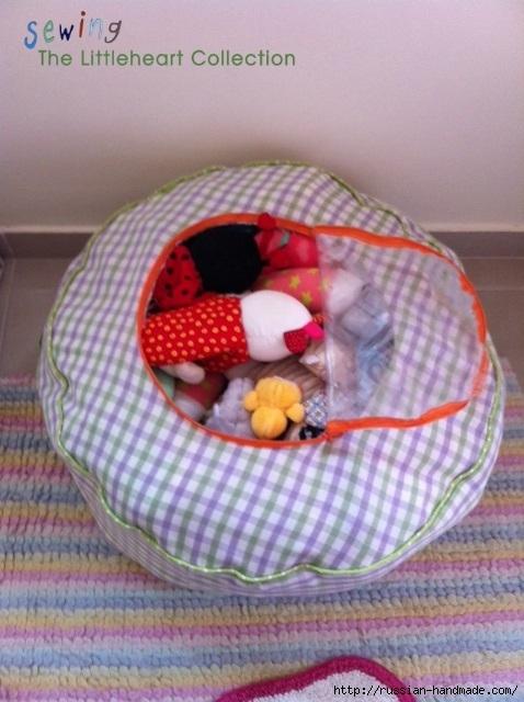 Как сшить пуфик-органайзер для детских вещей или игрушек (1) (478x640, 185Kb)