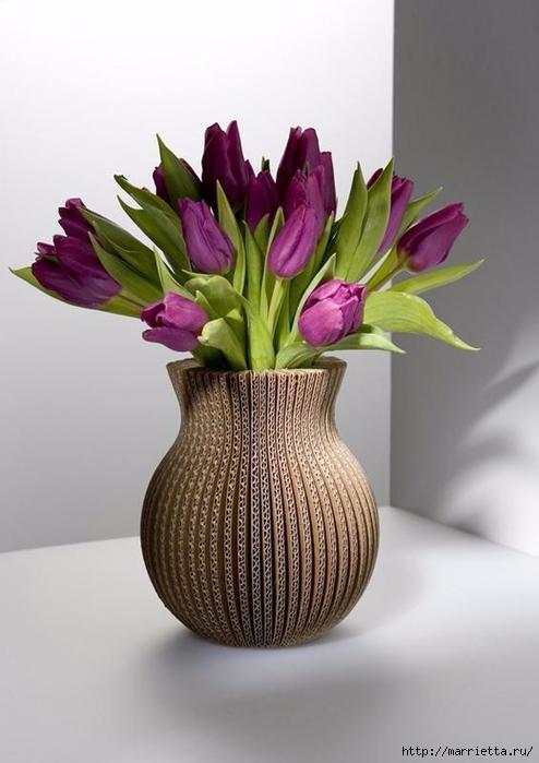 Креативная ваза из картона (6) (494x700, 173Kb)