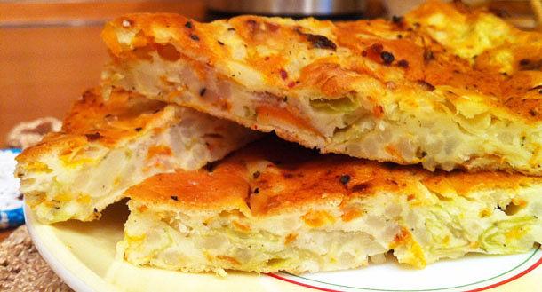 Пирог с капустой и грибами быстрый рецепт