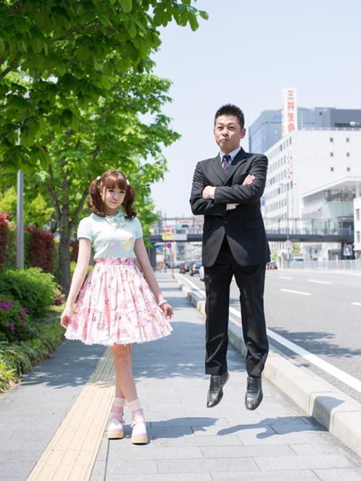 японская дочь дает папе