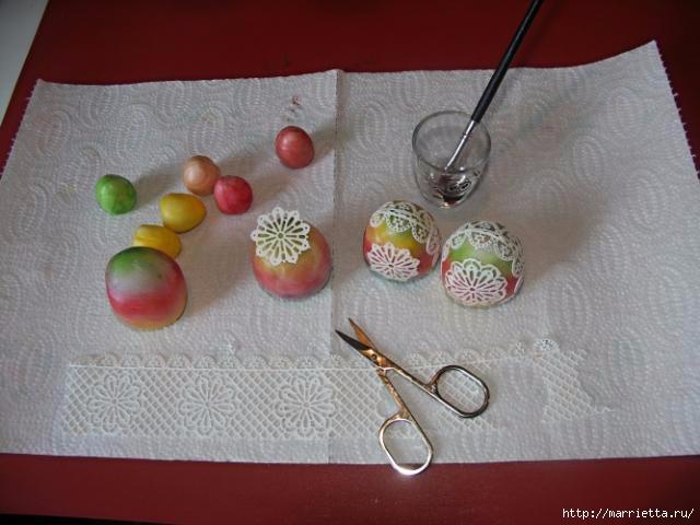 3D торт из марципана с кружевными пасхальными яйцами (7) (640x480, 127Kb)
