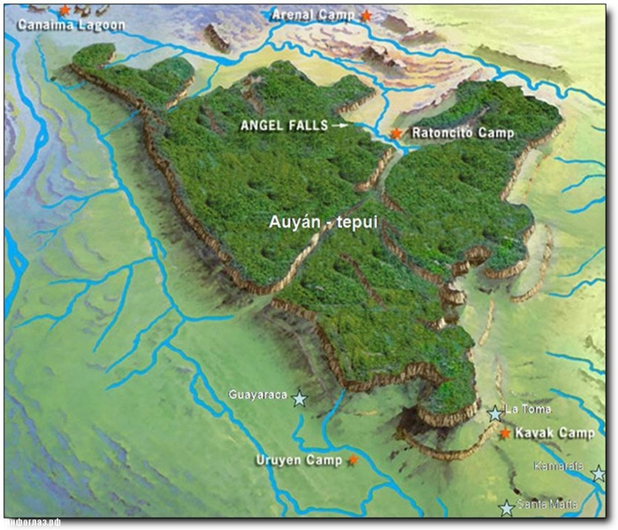 Auyan-Tepui-Map (700x599, 329Kb)