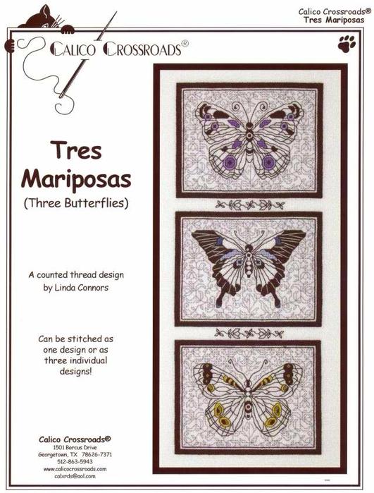 Tres Mariposas (531x700, 307Kb)