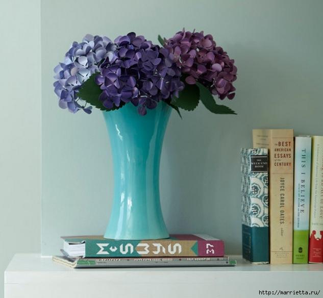 Цветы ГОРТЕНЗИИ из бумаги (2) (633x584, 149Kb)