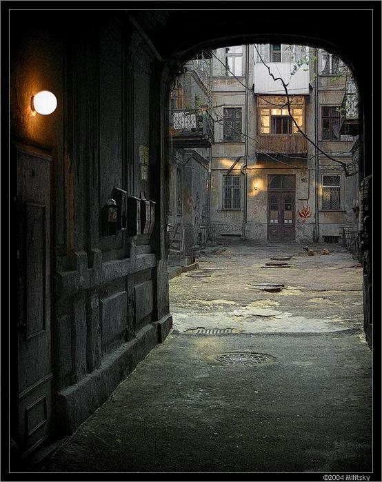 Фотография Старый двор.  PhotoLine.