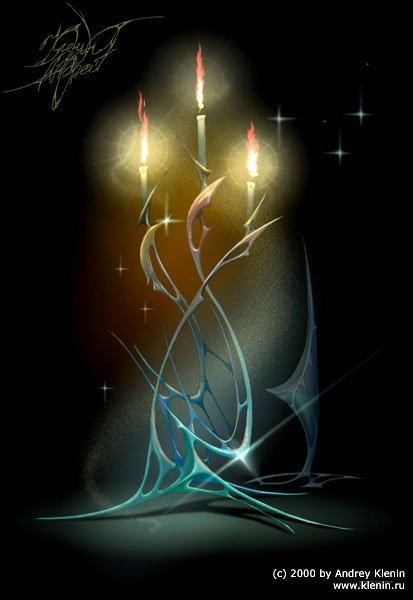 свечи вышивки крестом