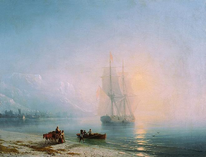 26. решил купить картину. морской пейзаж, этот жанр еще называют - марина. остановил свой выбор на двух картинах...