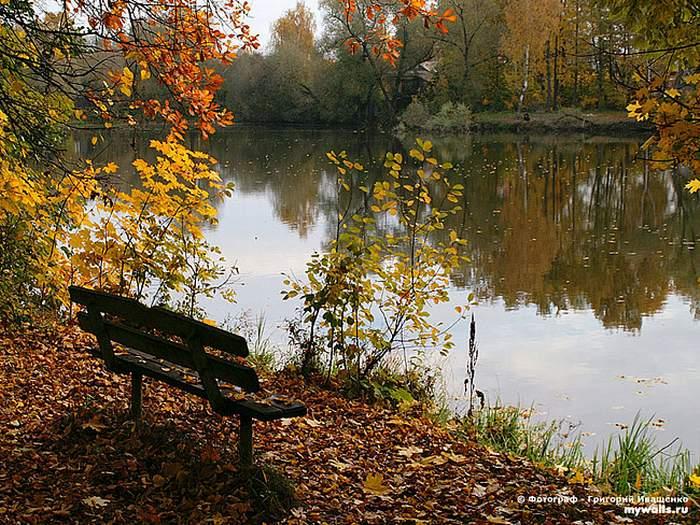 Холодной осенью в заброшенном парке фото 147-101