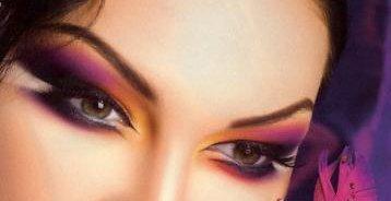 Вот еще два фото макияжа глаз (один и тот же макияж с разных сторон) и схема наложения теней в этом макияже.