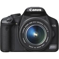 Зеркальная цифровая фотокамера CANON EOS 450D kit EF-S 18-55 IS.