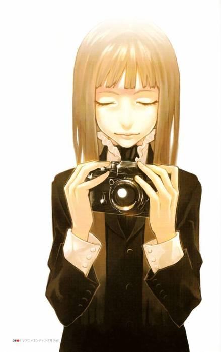 аниме девушки с фотоаппаратом: