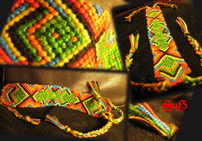 Фенечки из мулине схема сердечки. объемные фенечки из.